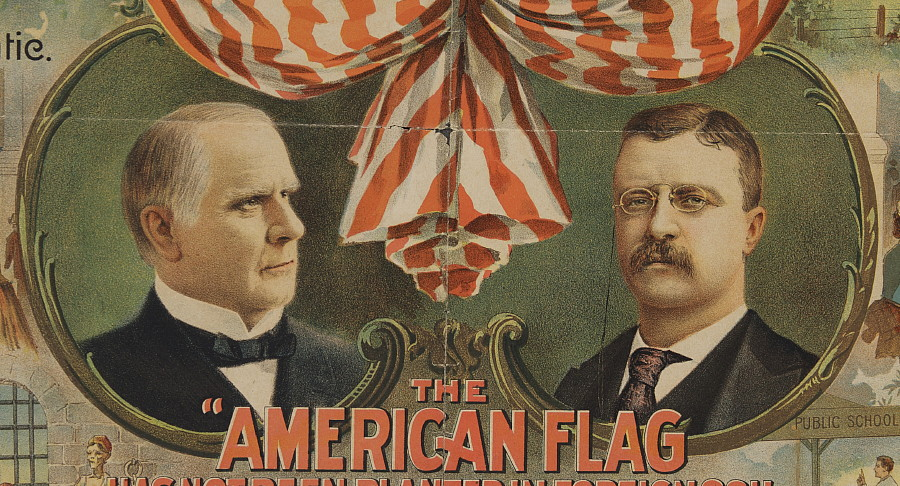 Jeff Bridgman Antique Flags And Painted Furniture WILLIAM McKINLEY AND THEODORE ROOSEVELT