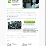 Screenshot: BioBricks Email Newsletter