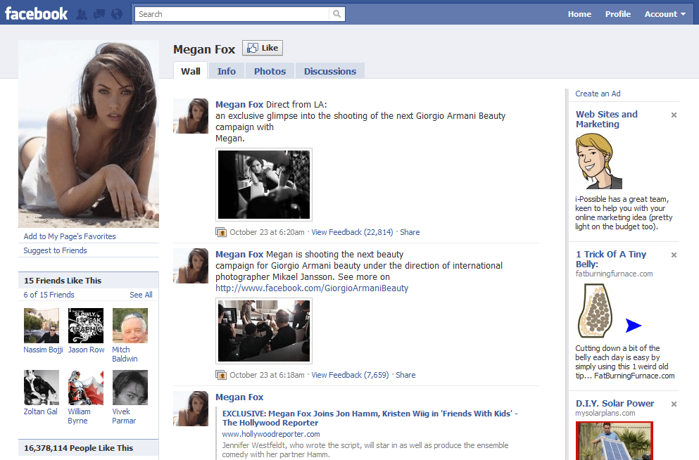 Facebook Page 11 Megan Fox