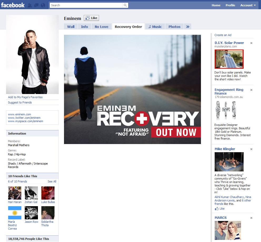 Facebook Page 7 Eminem