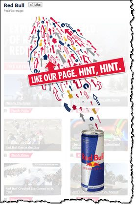 Red Bull Facebook LIke page