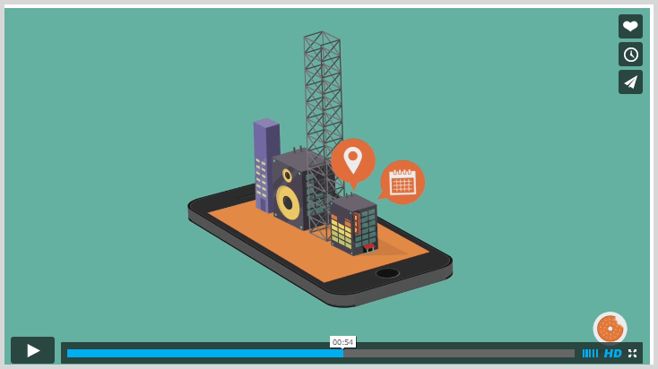 Gigtown explainer video mobile phone 3