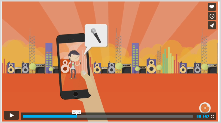 Gigtown explainer video mobile phone