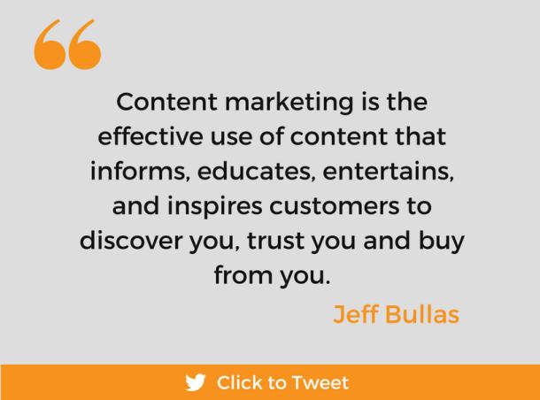 Content Marketing 101 quote 1