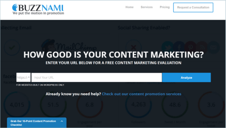 Buzznami - tools for bloggers