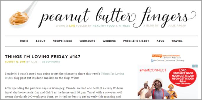 Julie Fagan runs Peanut Butter Fingers