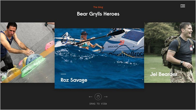 Color psychology Black like Bear Grylls Heroes for color in web design