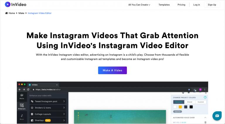 Best Instagram tools - InVideo