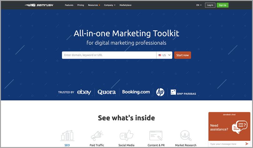 Semrush all-in-one marketing tool seo tools