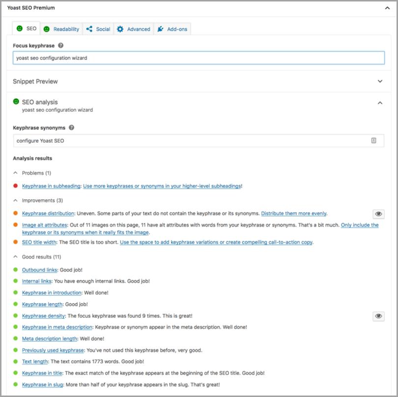 SEO Tasks Configure Yoast SEO Configuration Wizard