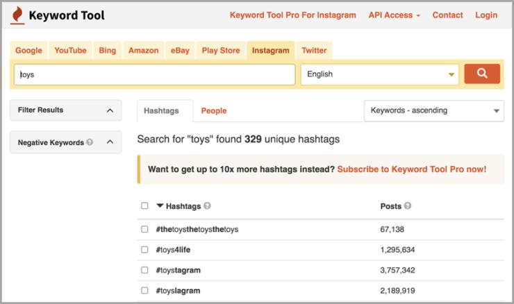 Instagram-Hashtags-Keyword-Tool-ecommerce-tool