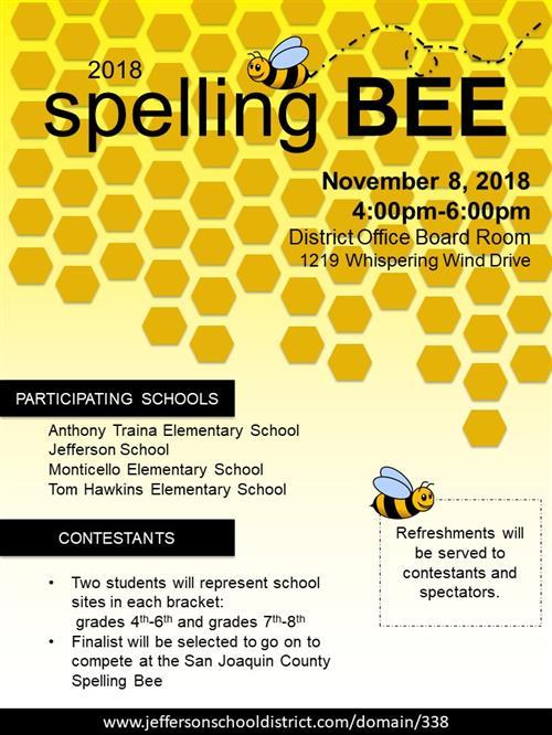 Word List Spelling County Bee
