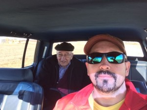 Dad in the backseat