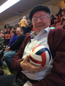 Vitauts with his volleyball