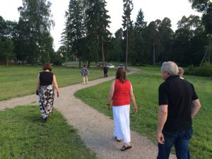 Vitauts walking ahead