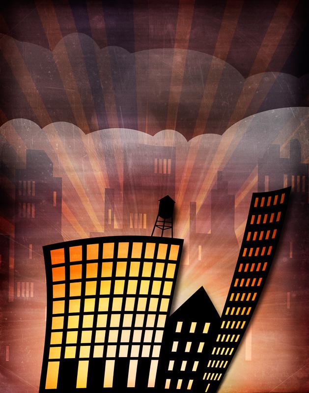 Urban Light Illustration