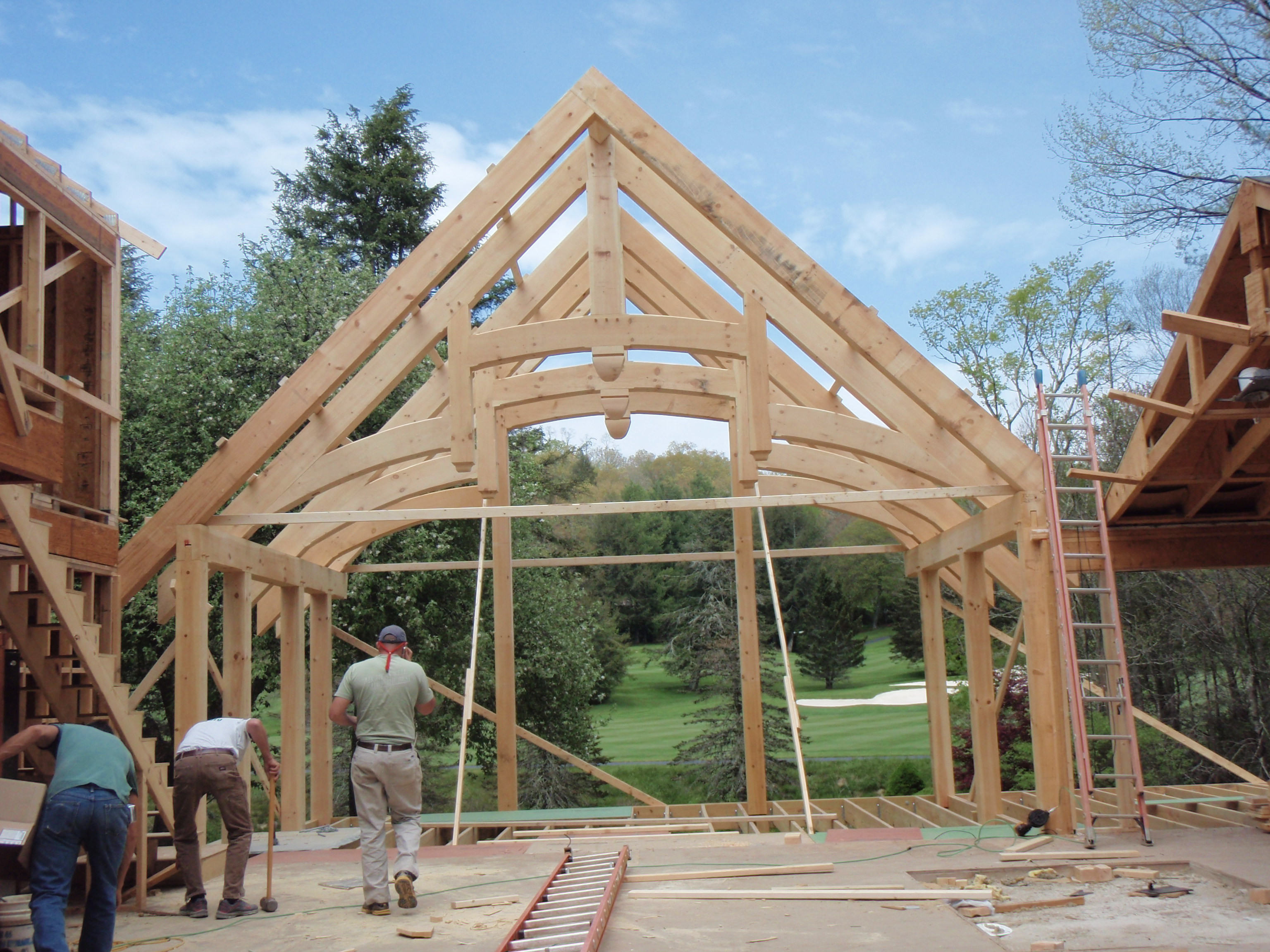 Timber Frame Building Heavy Timber Building Post Amp Beam