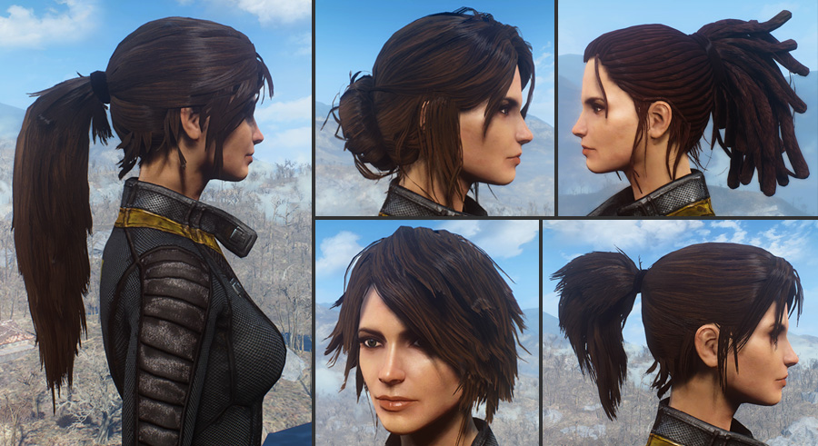 Ponytail Hairstyles By Azar V25a At Fallout 4 Nexus