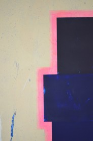 "Acrylic and latex on canvas 72"" x 48"""
