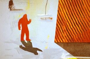 "Acrylic and latex on canvas. 96"" x 72"""