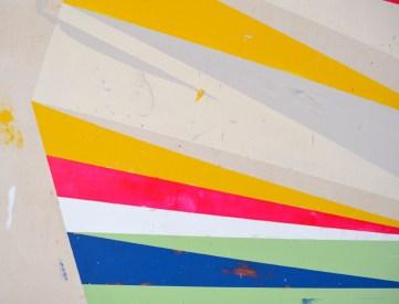 "Acrylic and latex on canvas 80"" x 58"""