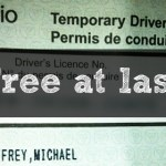 Photo of a temporary G2 license with
