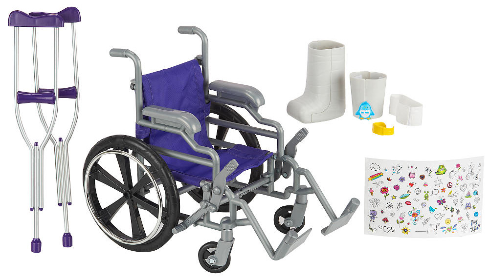 A collection of disability related toys