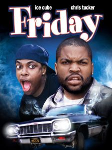 "Cover of the movie ""Friday,"" featuring Ice Cube and Chris Tucker"