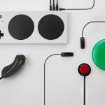 New xbox controller attached to multiple buttons configured in different ways to increase access