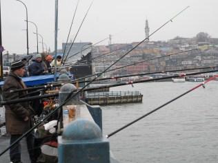 Fishermen in Istanbul