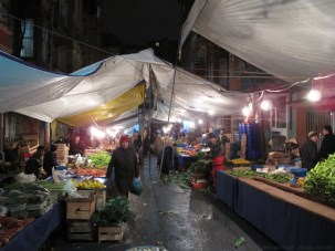 Small produce market near Kirk's house in Istanbul