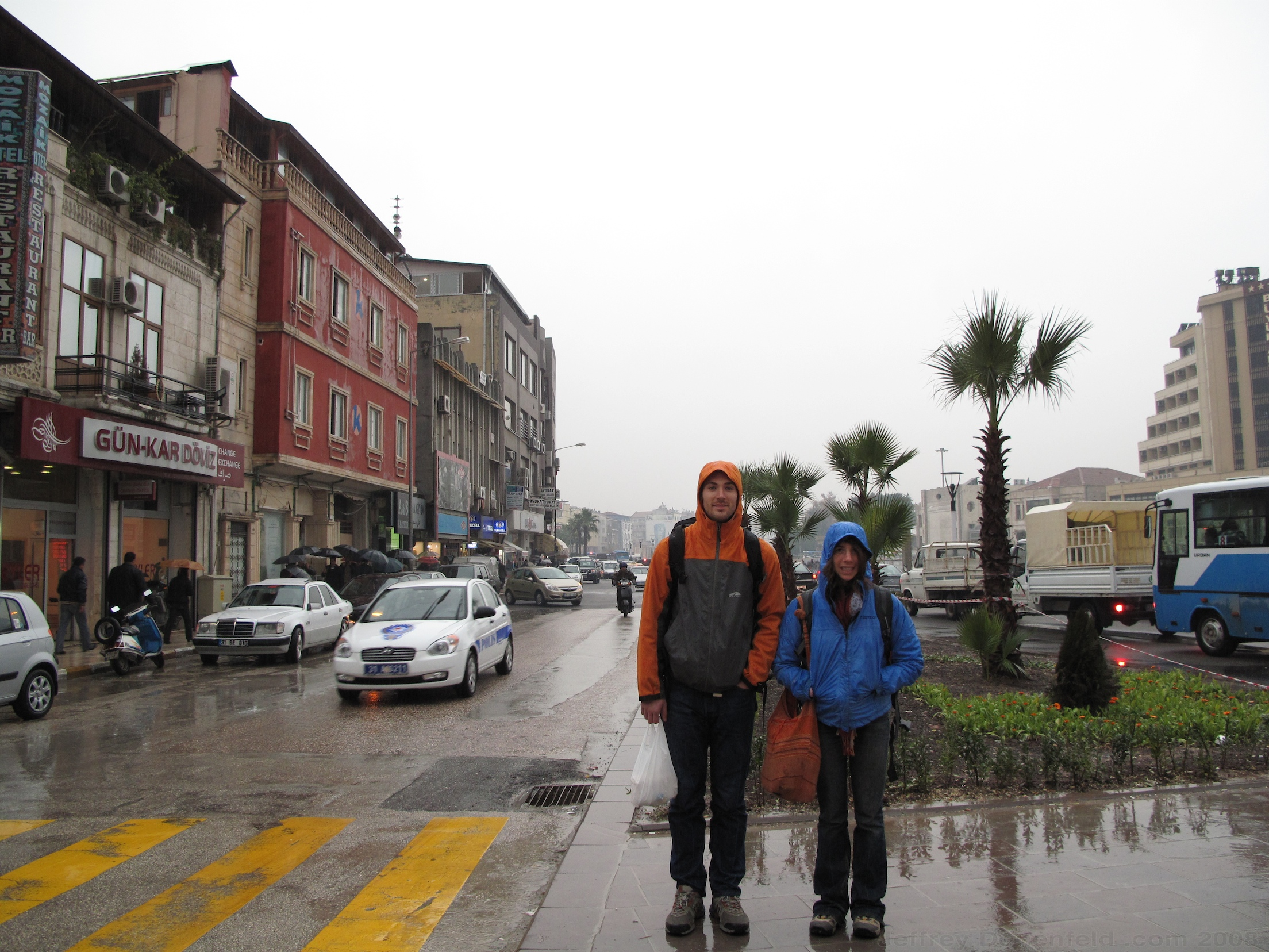 Arriving to rain in Antakya