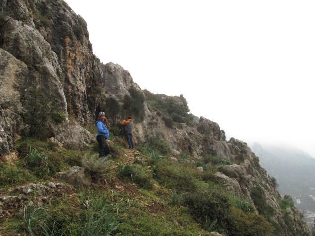 Climbing the ridge above St. Peters