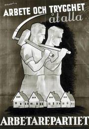 Swedish Social Democratic Party 1936 Poster