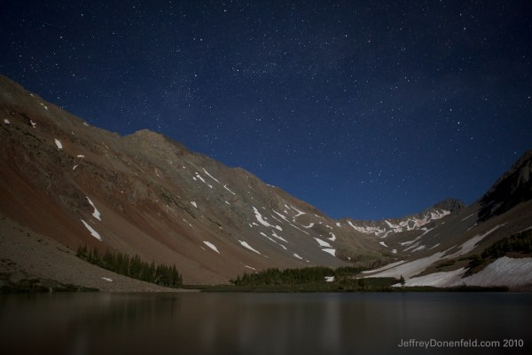 Stars over Navajo Lake in Telluride, Colorado