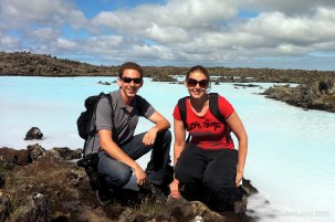 Sari and Jeffrey at the Blue Lagoon
