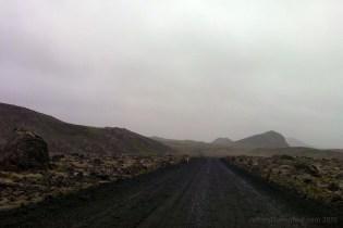 Driving back to Reykjavik