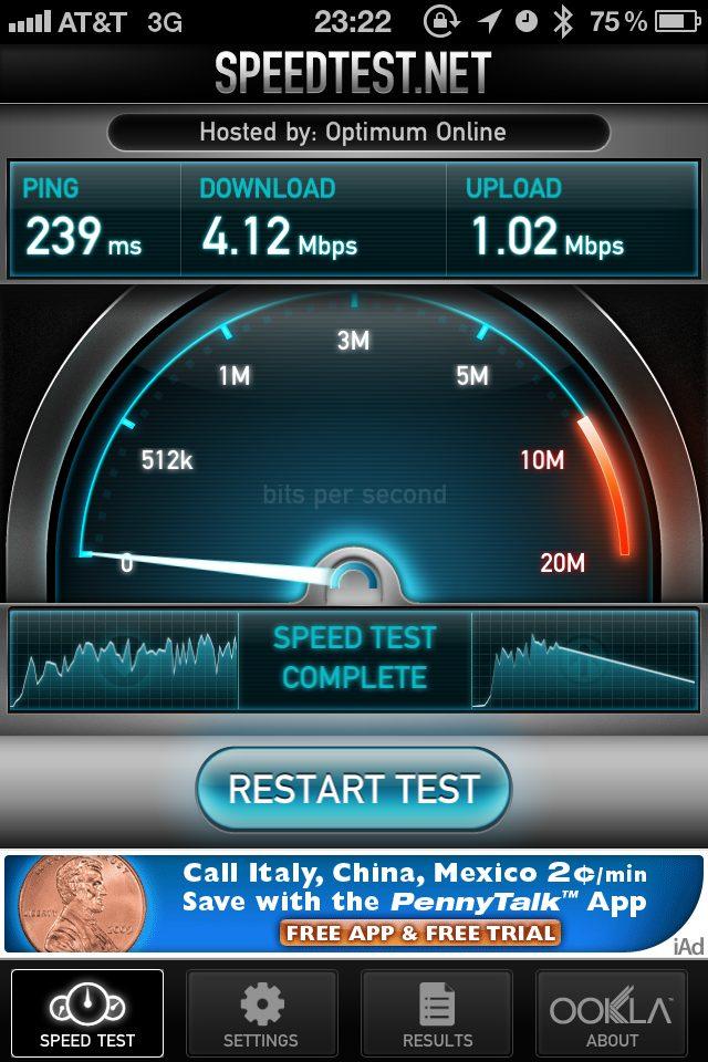 speed test ookla iphone