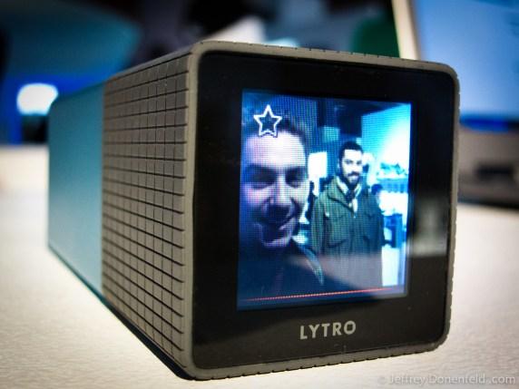 Me and Dave, pictured in the original Lytro Lightfield Camera