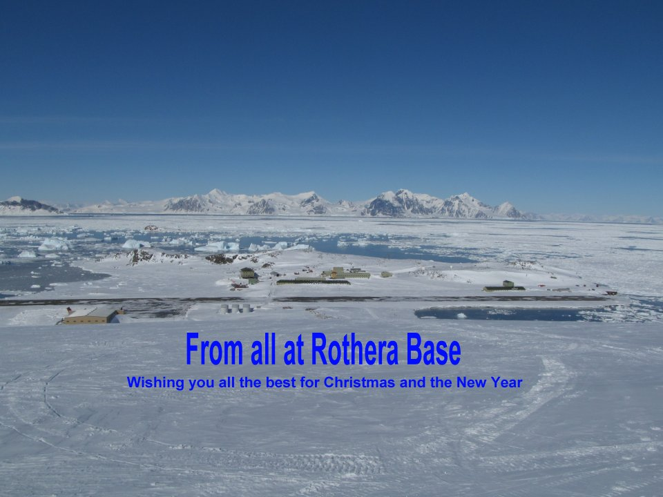 Rothera - View of base from the ramp CMJD 21 oct 2012 with words