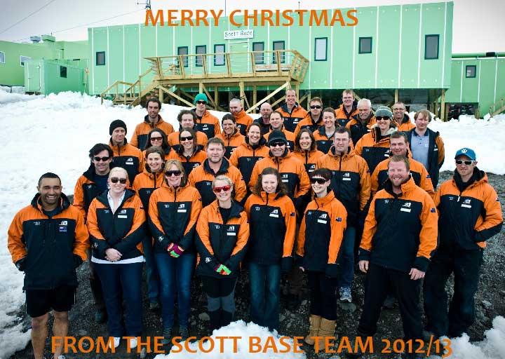 Scott Base Antarctica Holiday Card 2012