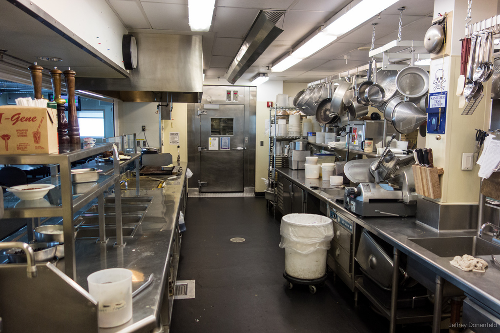 Working in the South Pole Kitchen