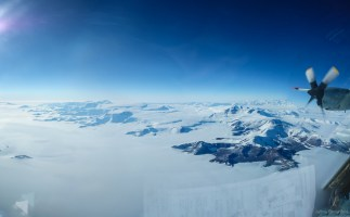 Fling over the Transantarctic Mountains on our way to McMurdo Station.