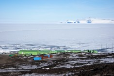 A short distance from McMurdo Station is New Zealand's Scott Base.