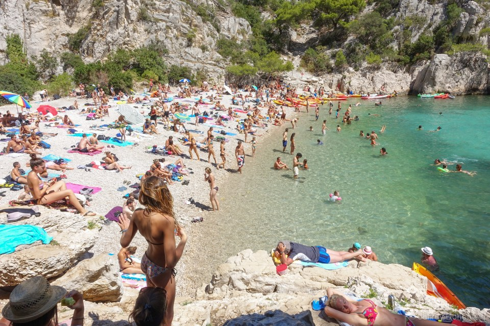 One of the many secluded, beautiful beaches among the Calanque around Cassis.