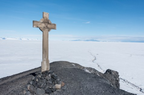 George T. Vince's Cross, at the tip of the penninsula.
