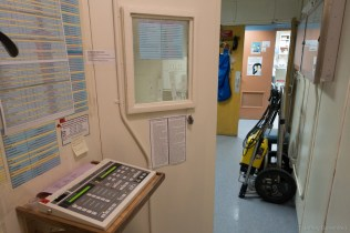 Including a portable field x-ray, seen in the cart on the right.
