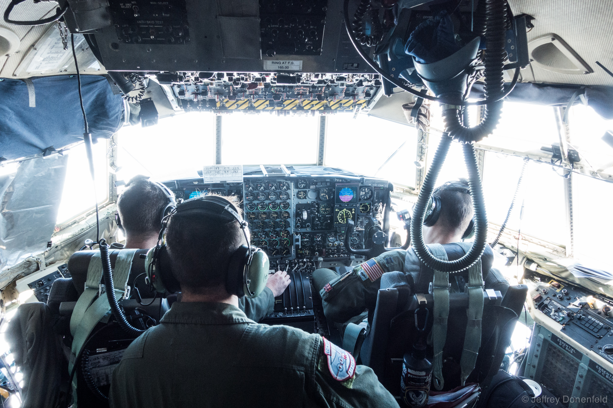 While we're in mid-flight, it's ok to go visit the cockpit - super cool!
