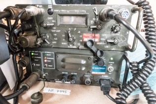 The HF Radio set is a standard military model - it looks bulky, but it works!