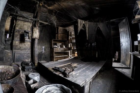 Inside Captain RF Scott's Discovery Hut, Hut Point, Antarctica